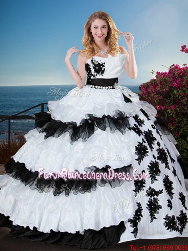 product winter floor length ruffled ruched ball gown glamorous applique dress
