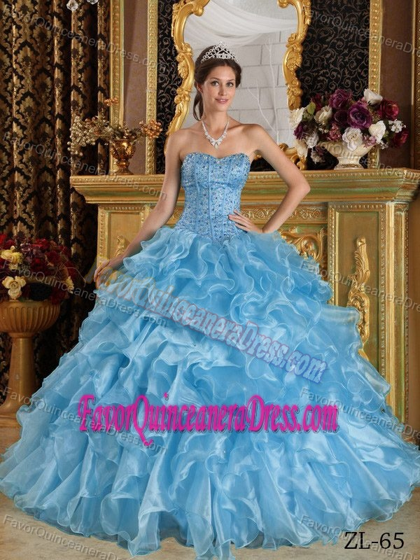Amazing Ruched and Beaded Quinceanera Gown with Layers and One Shoulder