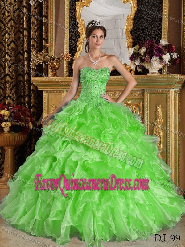 quinceanera dresses lime green