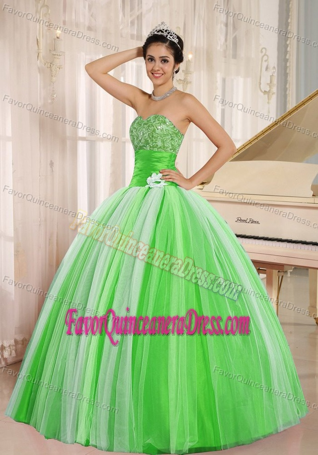 New Arrival Multi-color Tulle Dresses for Quince with Ruchings for Cheap