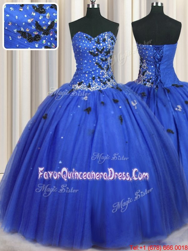 See Through Organza Sweetheart Sleeveless Lace Up Beading and Pick Ups Quinceanera Gowns in Brown