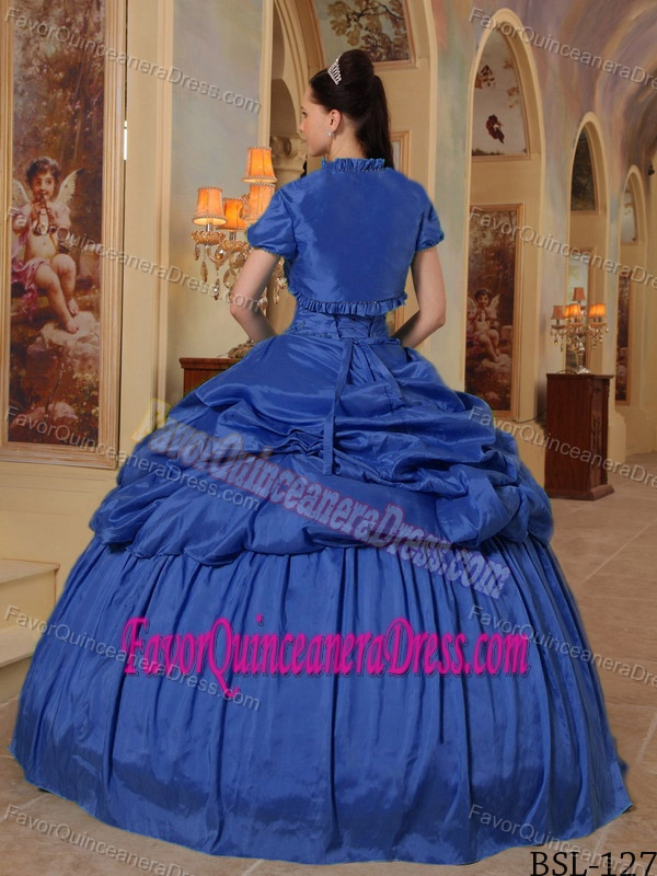 New Arrival Sweetheart Taffeta Quinceanera Gown Dresses in Blue