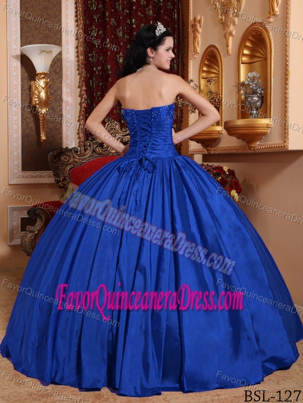 Amazing Royal Blue Quinceanera Dresses with Spaghetti Straps and Beading