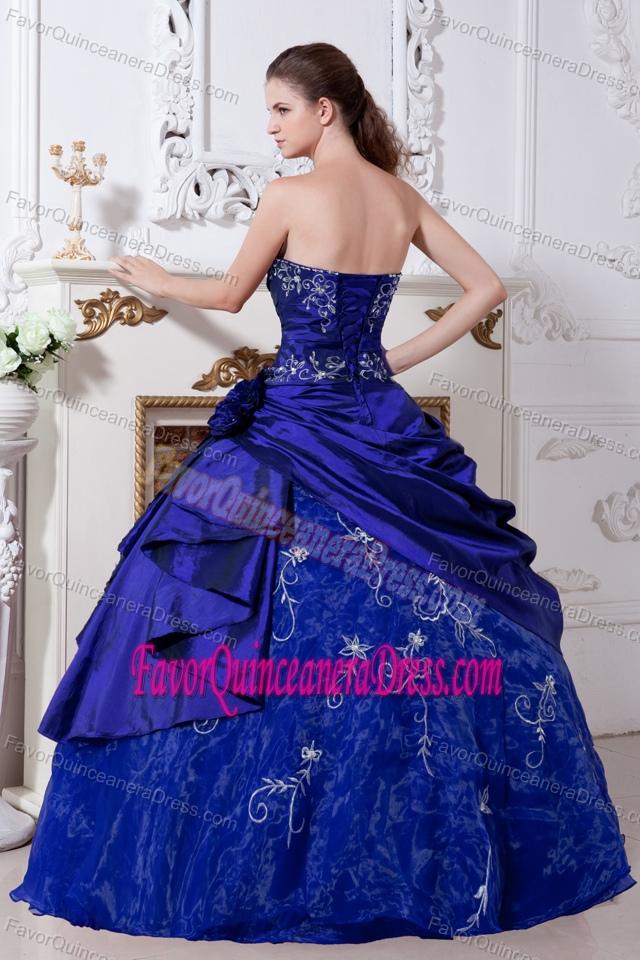 Beautiful Dark Blue Ball Gown Strapless Quinceanera