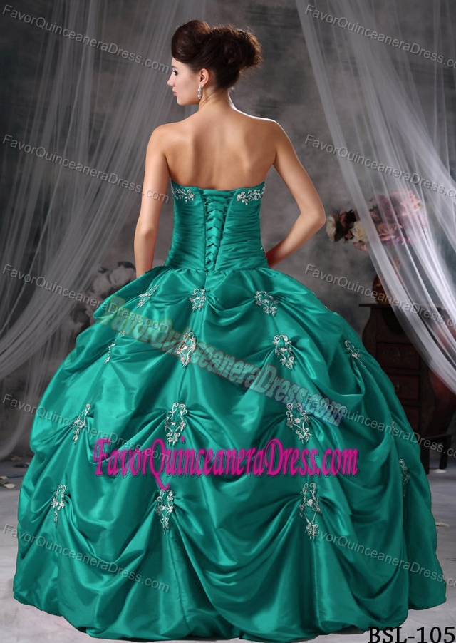 Teal Quinceanera Dresses 2013 2013 New Strapless App...
