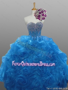 Beautiful Beaded Quinceanera Gowns in Organza for 2015 Fall