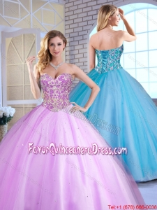 2016 Cheap Ball Gown Beading Quinceanera Gowns with Sweetheart