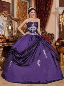 Modern Elegant Purple Ball Gown 2014 Quinceanera Dresses with Embroidery