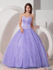 Beautiful Ball Gown Sweet 15 Dress in Satin and Organza with Appliques