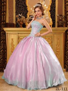 Pretty Multicolor Ball Gown Strapless 2015 Quinceanera Dress with Appliques