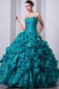 Teal Quinceanera Dresses 2013 2013 Beaded Sweetheart...