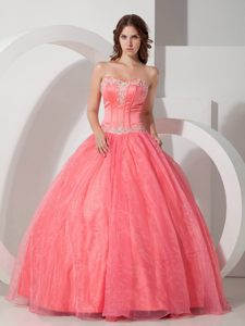 Beautiful Sweetheart Appliqued Quinceanera Dresses in Organza and Satin
